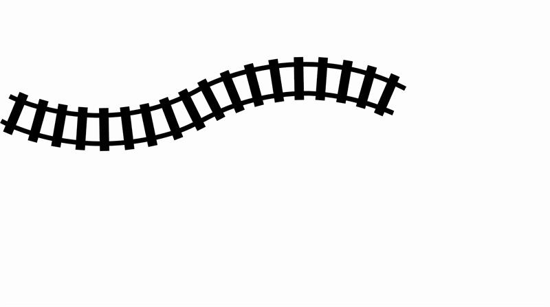 Track clipart train track. Black and white letters