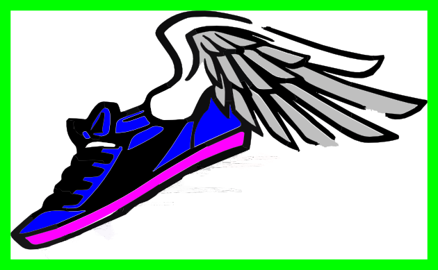 Track shoe png. Fascinating with wings clipart