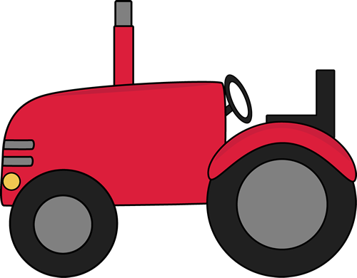drawing tractors red tractor