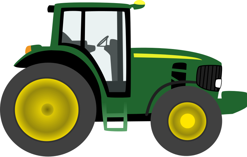 Clipart for kids at. Drawing tractors big tractor vector transparent stock