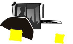 Tractor clipart office 2013. Black and white clip