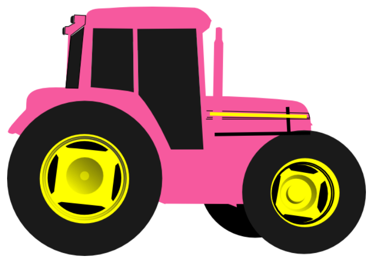 Tractor clipart pink tractor. Http www clipartpanda com