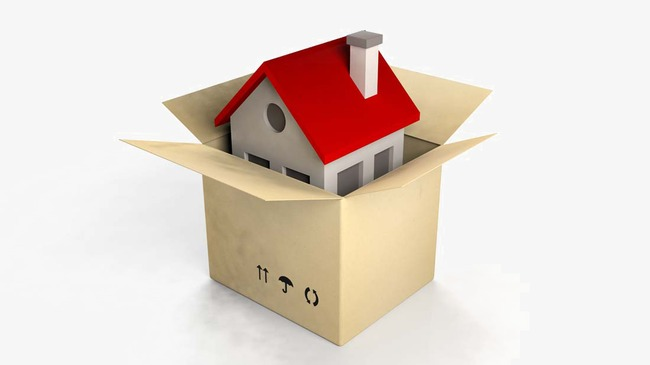 Trade clipart home trade. House with cardboard boxes