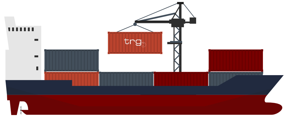 Trade drawing boat. Container ship at getdrawings