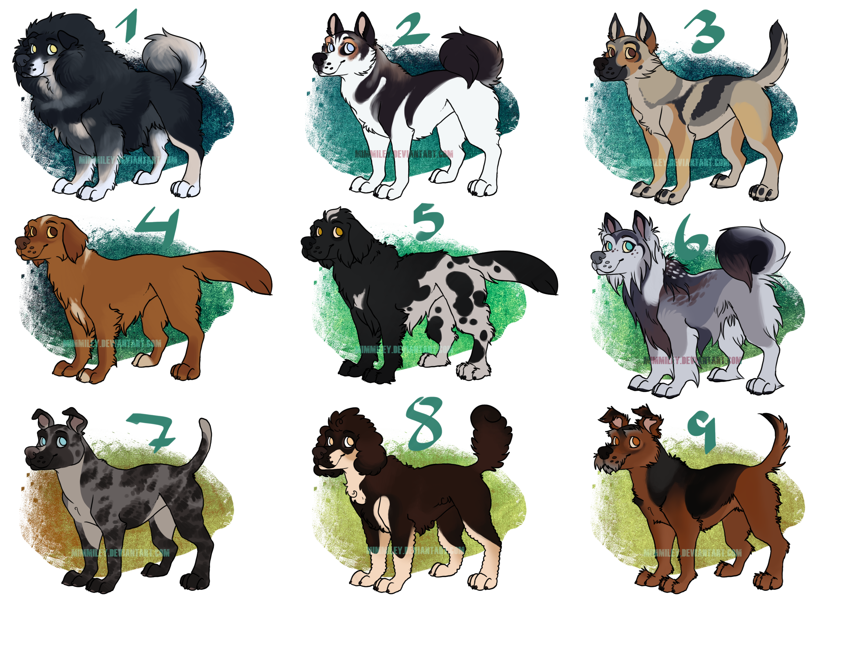 Trade drawing dog shelter. Dogs variety adoptable open