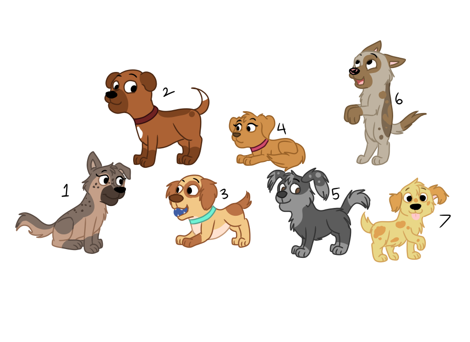 Trade drawing dog shelter. Pound puppy collab adopts