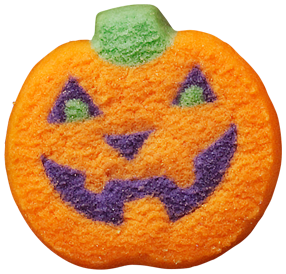 Pumpkins vector colored. Lofthouse halloween pumpkin cookie