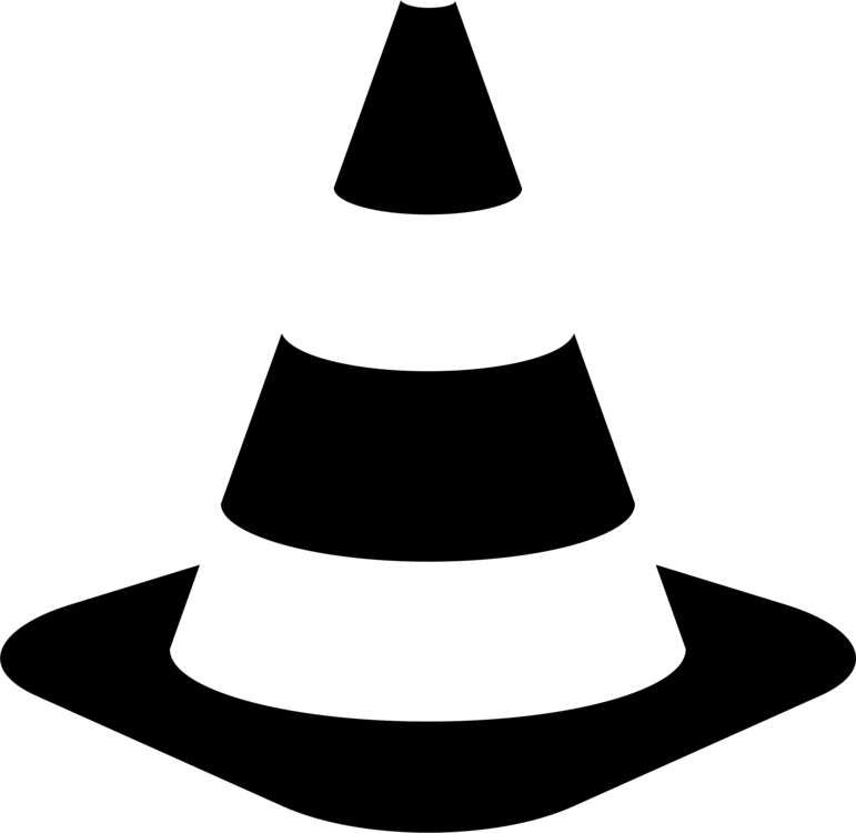 Safety vector cone. Traffic computer icons road