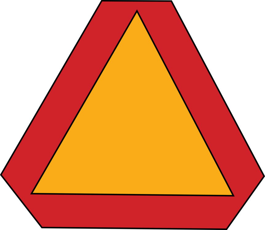 Traffic clipart dangerous driving. Slow moving vehicle sign
