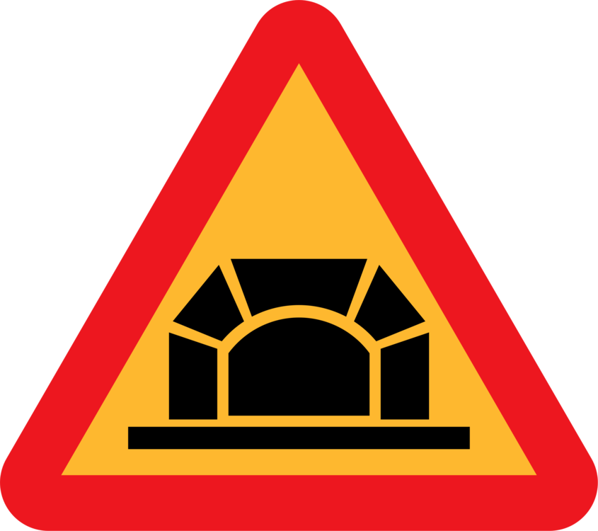 Traffic clipart dangerous driving. Sign tunnel warning road