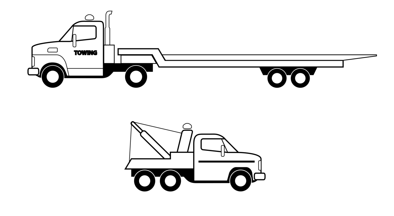Transportation vector flat bed truck. Car pickup semi trailer
