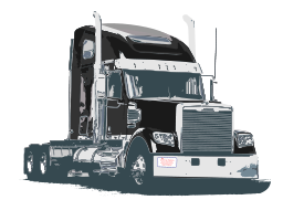 Peterbilt vector stock. Free tractor truck cliparts