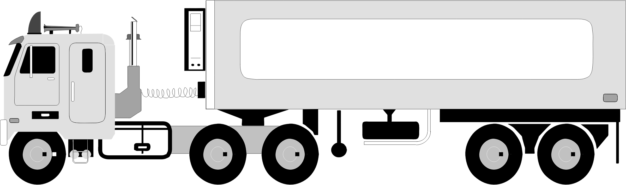 Trailer clipart big truck. Image png