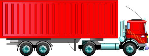Truck clipart container truck.