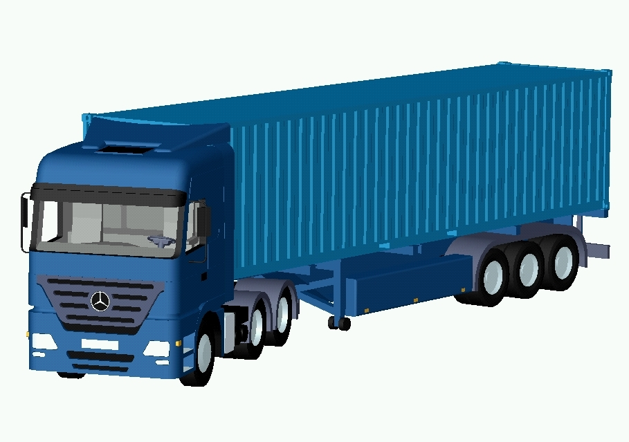 Truck clipart container truck. Mb actros d cad