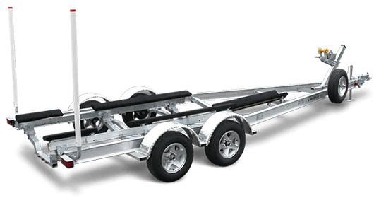Trailering clip boat trailer. Budget boats new trailers