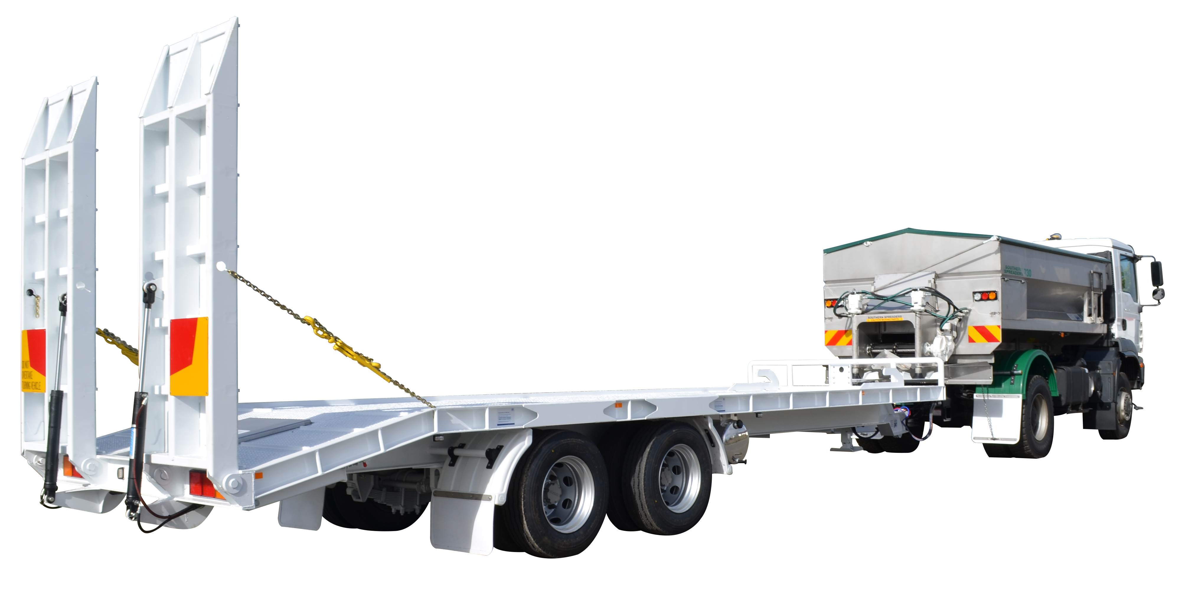 Trailers clip chassis. Tag trailer southern spreaders