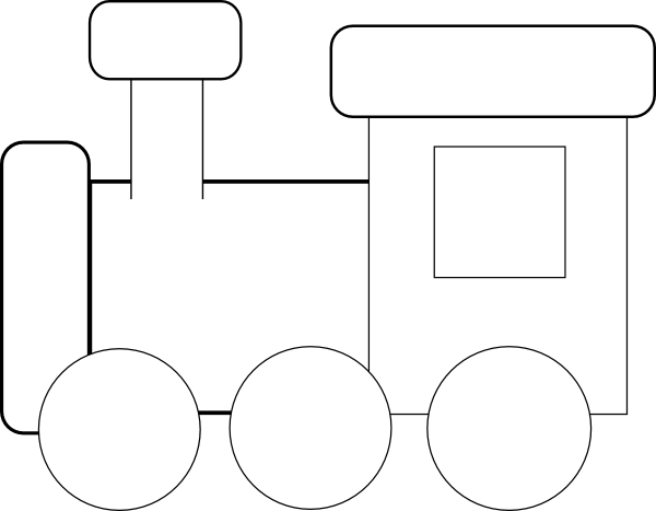 Train black and white png. Clip art at clker