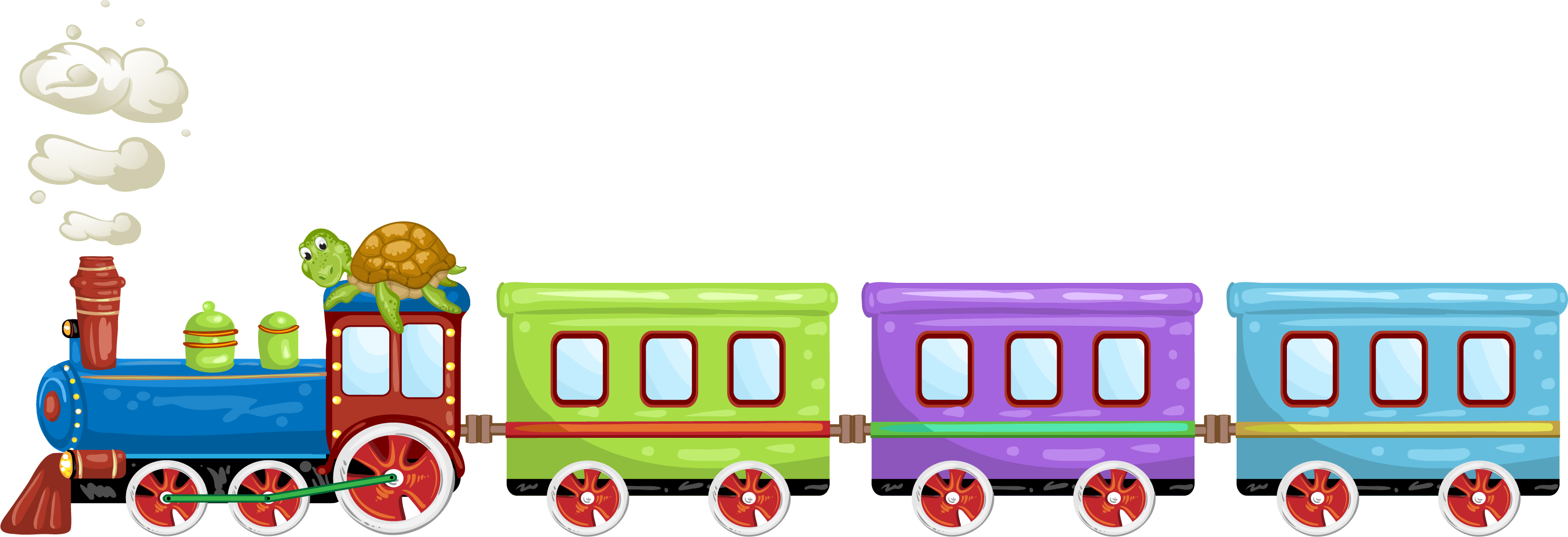 Train cartoon png. Toy illustration colorful transprent