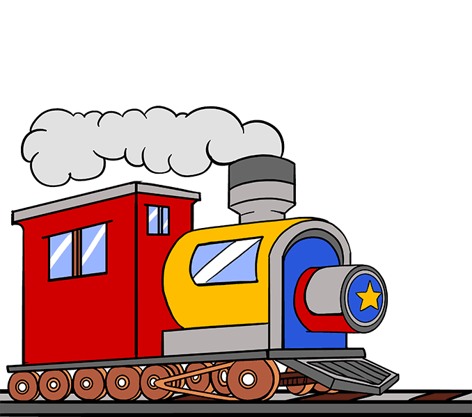 Train cartoon png. How to draw a