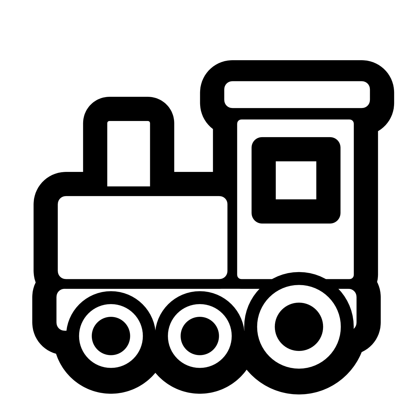 Train clipart black and. Motor vector w16 jpg royalty free stock