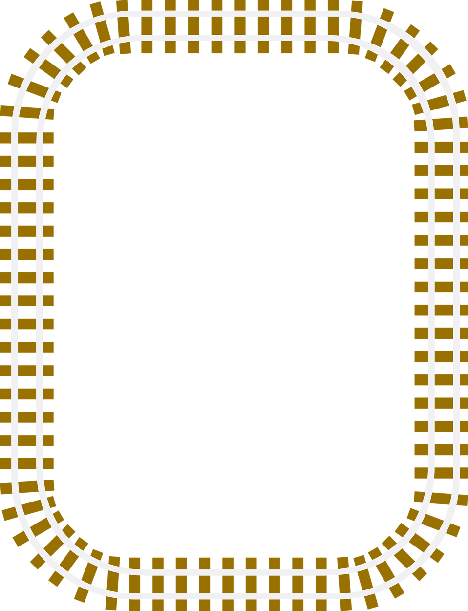 Train clipart borders. Illustration of a blank
