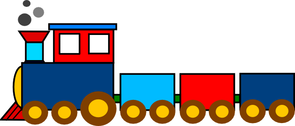 Train clipart simple. Free cartoon pictures download