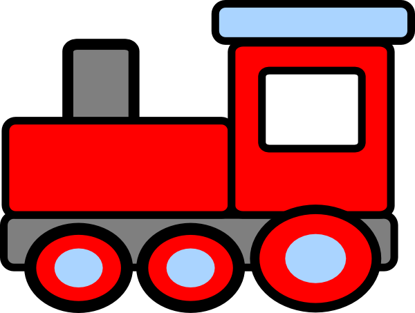 Vector trains birthday. Free simple train cliparts