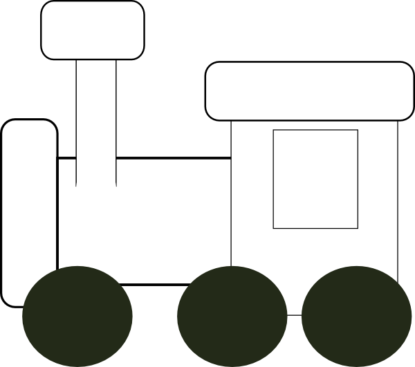 Train clipart template. Engine clip art at