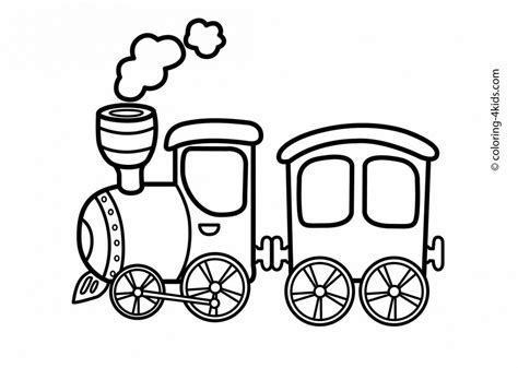 Trains clipart template. Coloring book christmas train