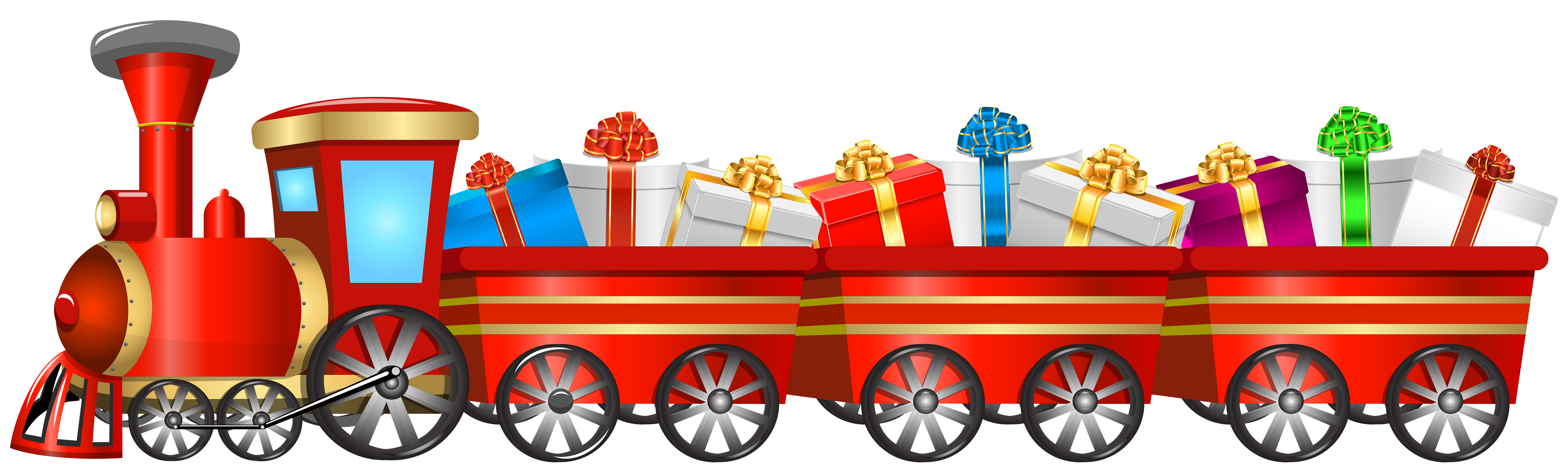 Transparent train christmas. Png clip art image