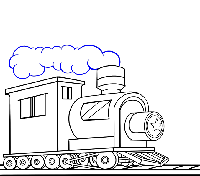 Drawing train coal. Group with items how
