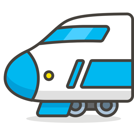 Vector bullet peluru. Train icon free of