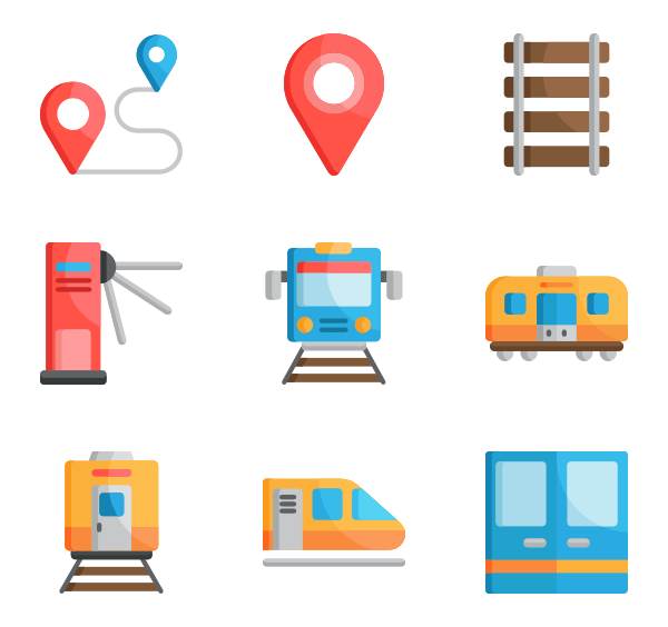 Train station png. Icon packs vector
