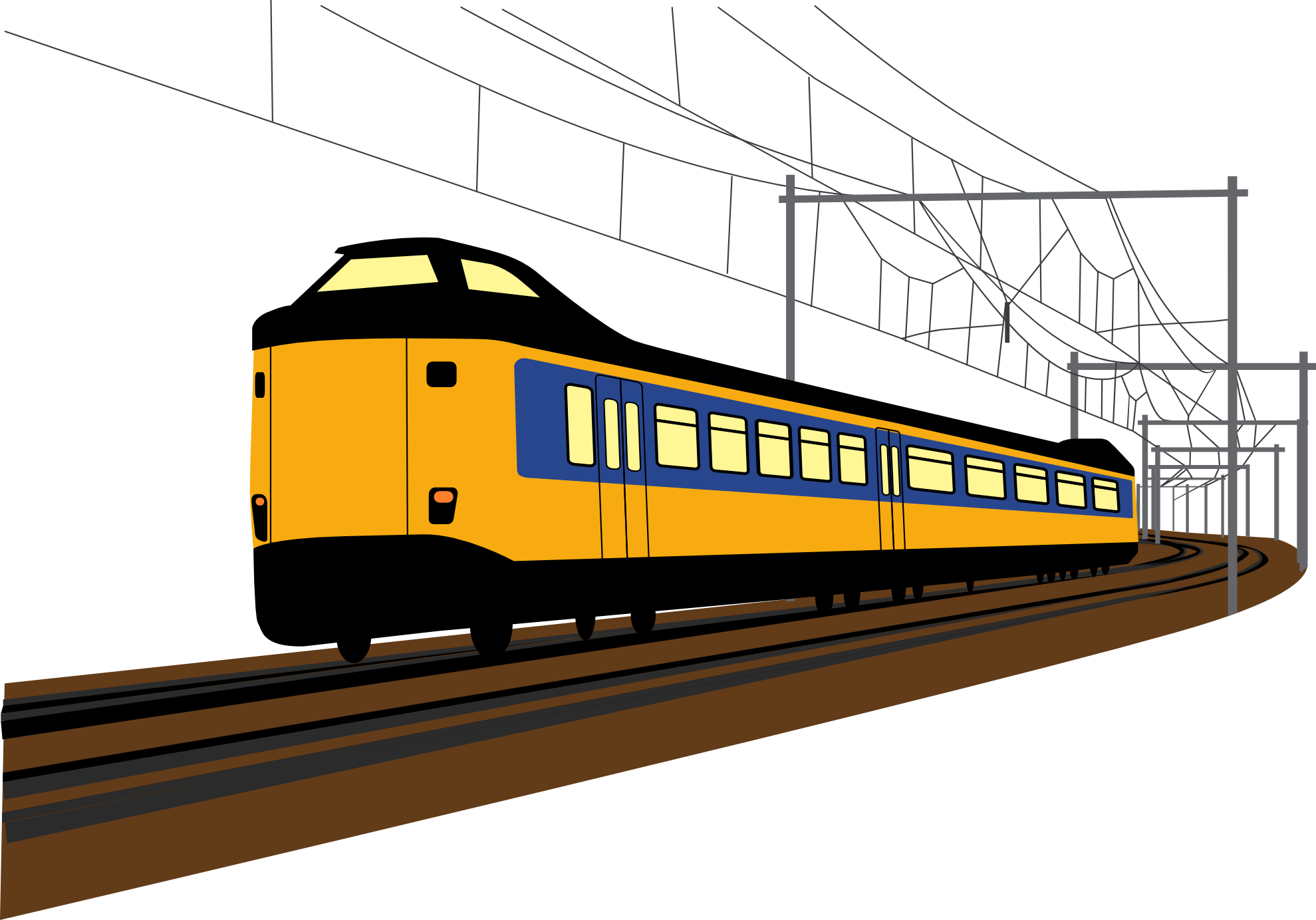 Vector trains side view. Free train art download