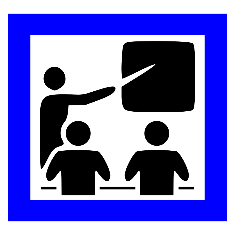 Learning vector computer training. Clipart icon medium image