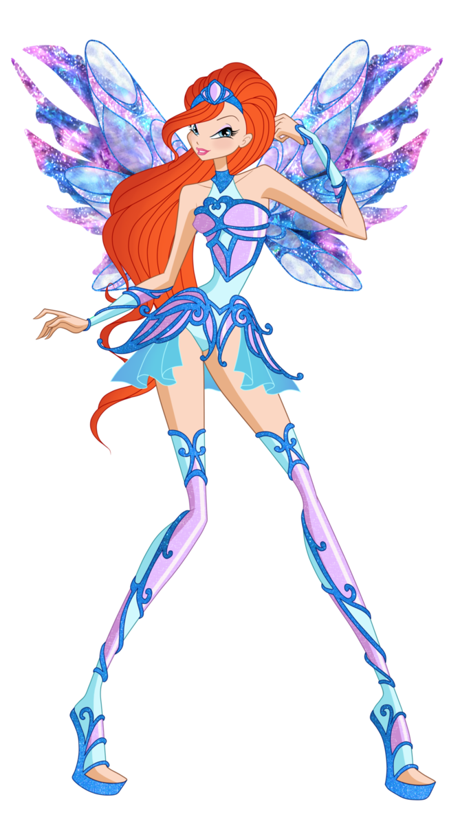 Transformation drawing. Bloom new by winx