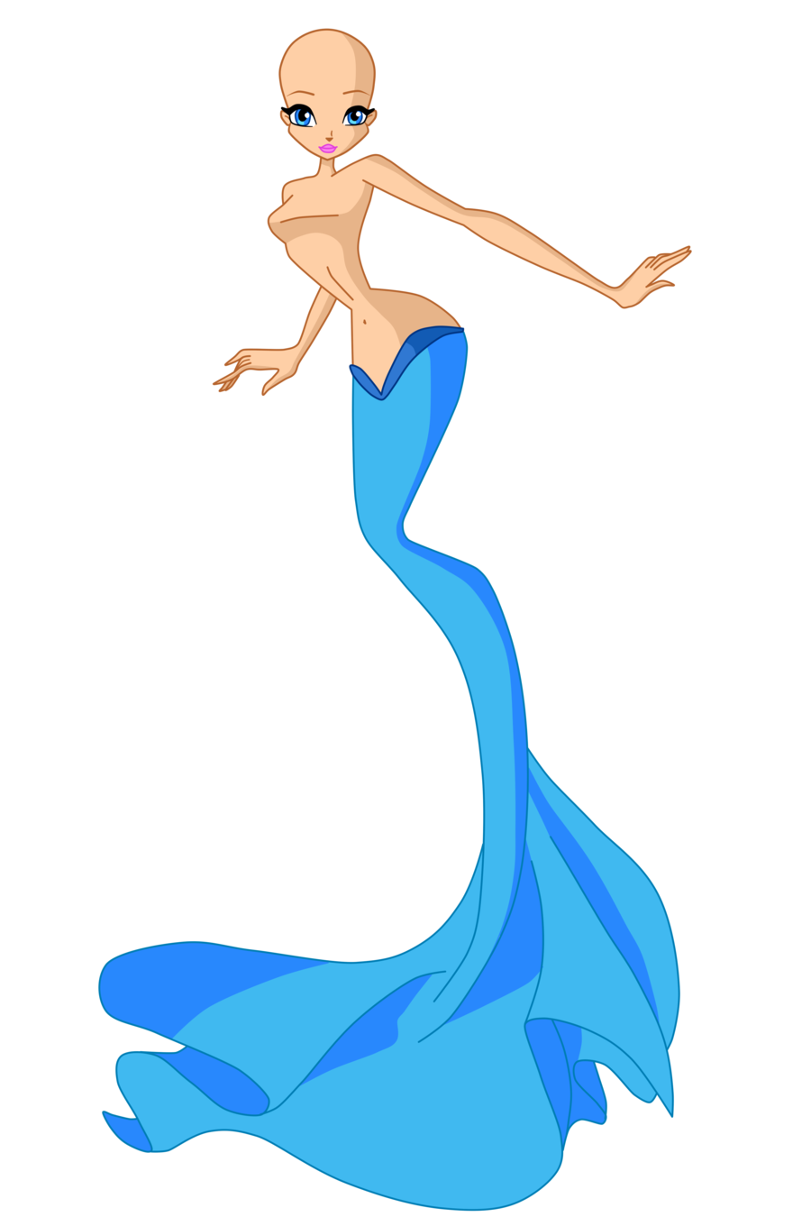 Winx the base by. Transformation drawing mermaid banner transparent stock