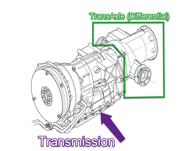 Transmission drawing basic engineering. The aston martin db
