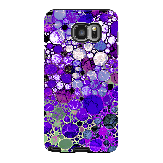 Transparent 5 artistic. Purple abstract galaxy note