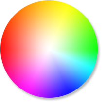 Transparent 5 colored. Color wheel calculator sessions