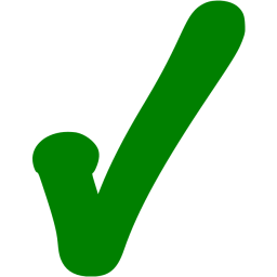 Transparent 5 green. Check mark encode clipart