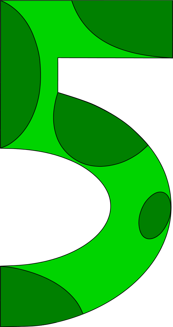 Transparent 5 green. Number one clipart at