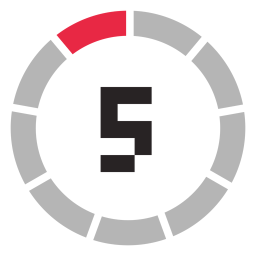 Transparent 5 icon. Minutes counter png
