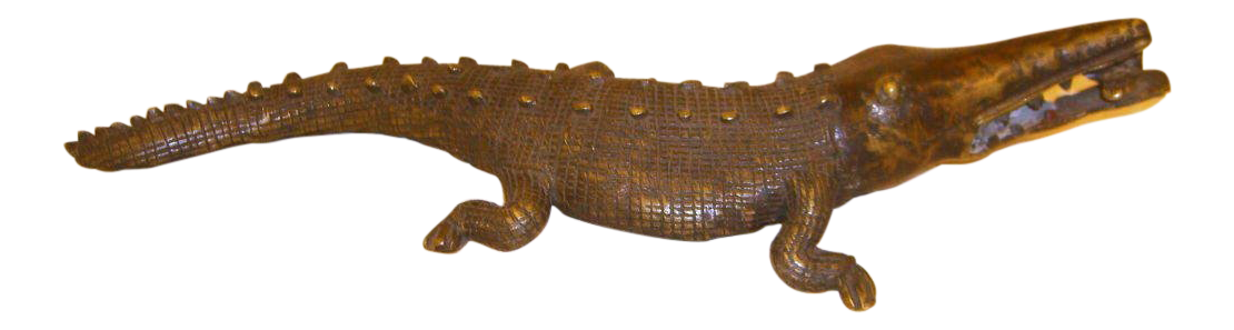 Transparent alligator bronze. Superior late th century