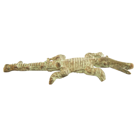 Transparent alligator bronze. Vintage african crocodile casting