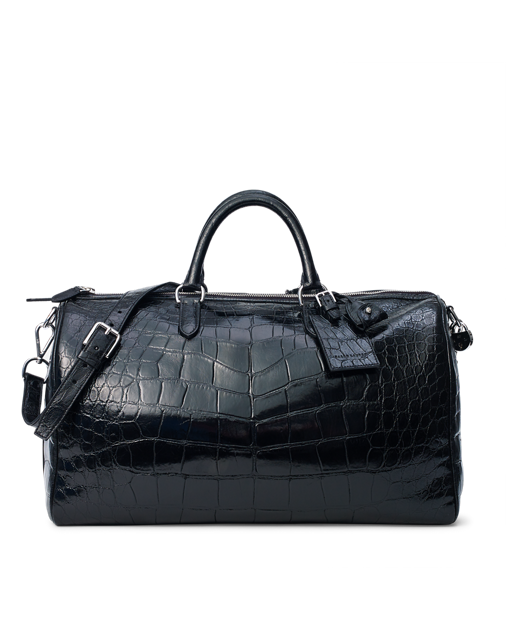 Transparent alligator cold. Boston bag duffel bags