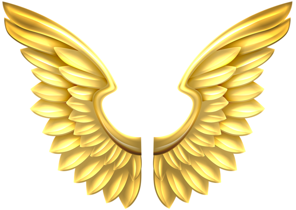 Transparent angel wings png. Gold clip art image