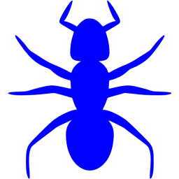 Transparent ant blue. Icon free insect icons