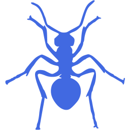 Transparent ant blue. Royal icon free insect